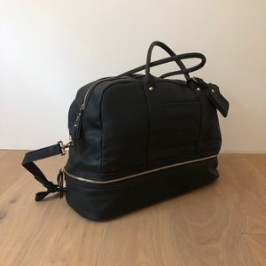 Madison West Weekend Bag Black PU Leather
